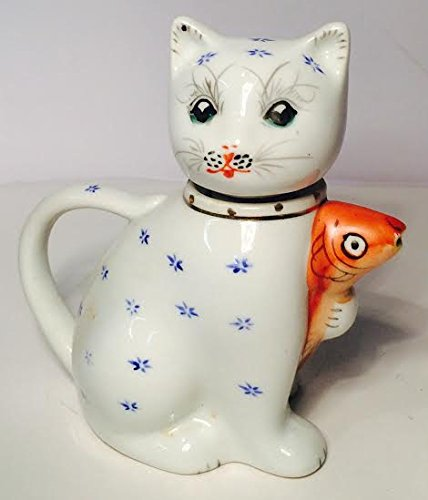Cute Kitty Teapot with Goldfish (Cute Teapot)