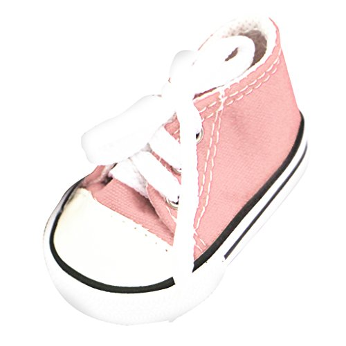 Pour Sport Baskets De Pouces Bleu Sneaker Chaussures Magideal Rose Fille À Poupée Lacet 18 Américaine Toile Jean tq8UUTnw