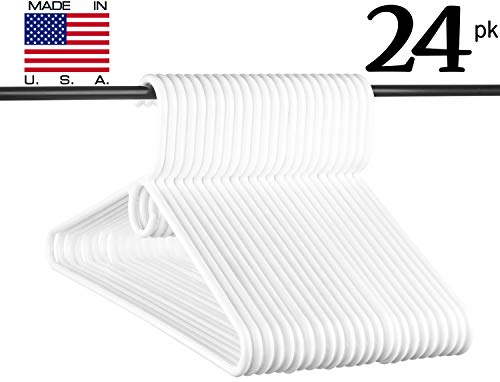 Neaties USA Made Heavy Duty White Plastic Hangers, 24pk by Neaties