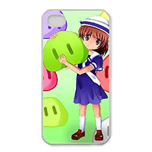Protection Cover iPhone 4,4S Cell Phone Case White Avodc Clannad Personalized Durable Cases