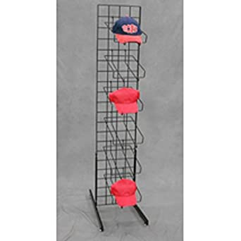 5f85f0bfa31 Image Unavailable. Image not available for. Color  New Baseball Cap Hat Rack  Floor Standing Display Tower Black