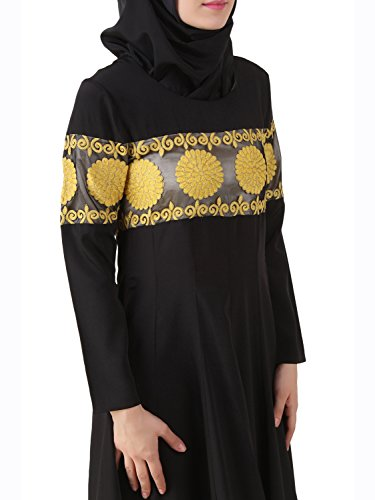 Abaya 489 nero AY Wear amp; Burqa Eid Dress Party MyBatua ricamato Anarkali Pq0w141