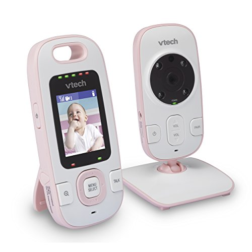 (VTech BV73121PK Digital Video Baby Monitor with Full-Color and Automatic Night Vision, Pink)