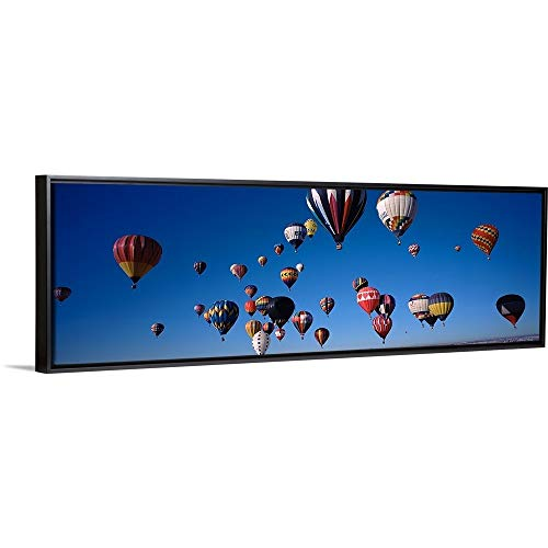 (Floating Frame Premium Canvas with Black Frame Wall Art Print Entitled Hot air Balloons Floating in Sky, Albuquerque International Balloon Fiesta, Albuquerque, Bernalillo County, New Mexico,)