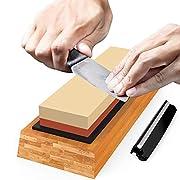 #AmazonGiveaways Premium Sharpening Stone Knife Sharpener Best Japanese Whetstone 1000/6000 Grit Waterstone Kit for Kitchen Kamikoto Knives