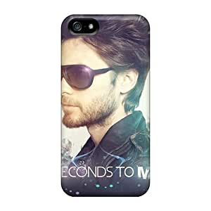 Iphone 5/5s Ofb8064WWpo Provide Private Custom HD 30 Seconds To Mars Band 3STM Skin Protective Hard Phone Case -InesWeldon