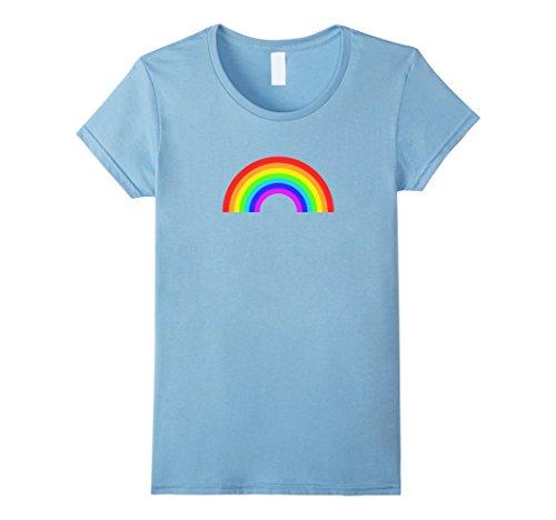 Womens Rainbow Classic Style I Love 80s T-Shirt Medium Baby (80s Styles For Women)