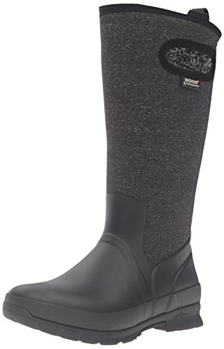 Bogs Women's Crandall Tall Snow Boot, Black/Multi, 8 M US (Winter Bogs Boots Women)