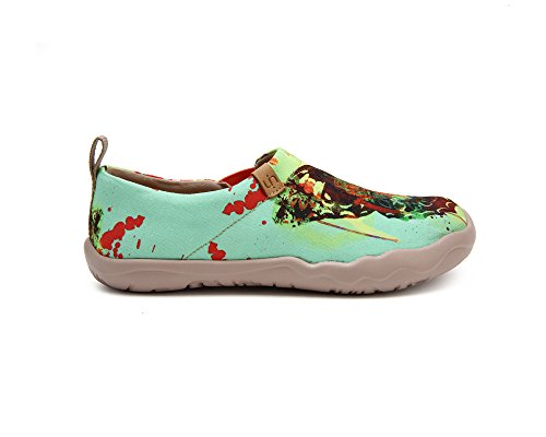 UIN Women's Butterfly Painted Canvas Slip-On Shoes Fashion Ladies Travel Shoes by UIN (Image #3)