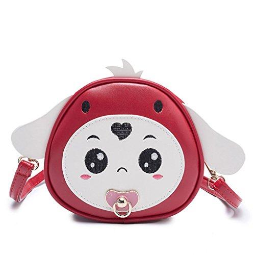 dos Jagenie pour à à Sac Red2 Kids Cute sac Beige2 bandoulière Bx618Bw