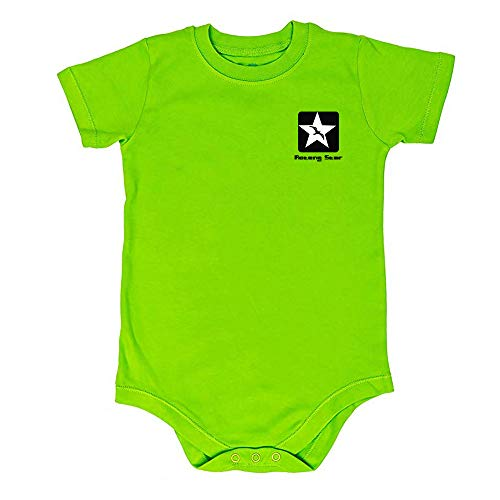 AOTENG STAR Large Size Kids Boys & Girls Bodysuit Short Sleeve Crew Neck-Many Colors Green