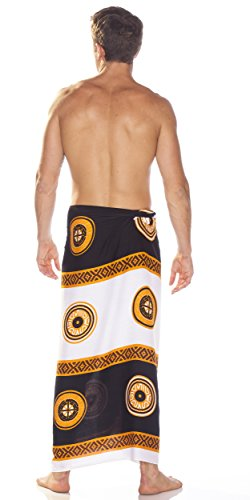 Sarongs Tiki Mundo Abstract Blanco Men's Negro 1 Sarong aXRqxF55