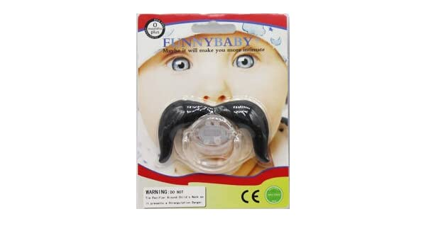 Amazon.com : baby mustache pacifier Round clips pacifiers ...
