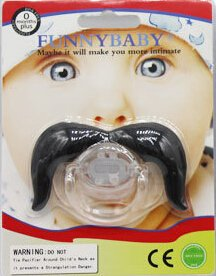 Amazon.com : baby mustache pacifier Round clips pacifiers dummy ...