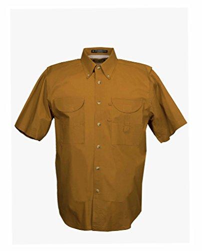 Tiger Hill Men's Fishing Shirt Short Sleeves Burnt Orange X-Large