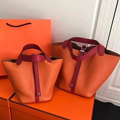 Donna Arancione A Vera Da Grande Spalla In Borsetta Lavoro Tote Leathario Per Elegante Pelle Borsa wSSOY