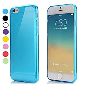 FJM Ultra Thin Style Soft Flexible TPU Cover for iPhone 6(Assorted Colors) , White