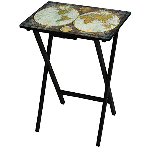 Oriental Furniture Vintage World Map TV Tray by ORIENTAL FURNITURE