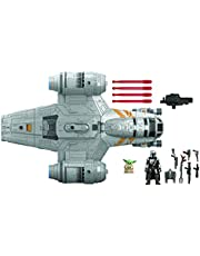 Star Wars Mission Fleet The Mandalorian The Child Razor Crest Outer Rim Run Deluxe Vehicle with 2.5-Inch-Scale Figure, for Kids Ages 4 and Up