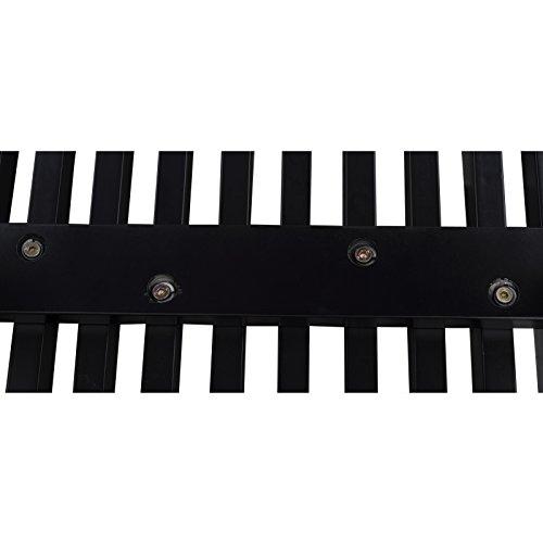 LeisureMod Mid-Century Modern Inwood Platform Wood Bench, 4', Black by LeisureMod (Image #1)