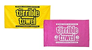 Pittsburgh Steelers Official Terrible Towels - Set of Two - Yellow & Pink - NFL at Steeler Mania