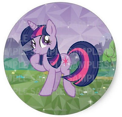Image Unavailable Not Available For Color SDore My Little Pony Twilight Sparkle 8quot Round Edible Birthday Cake Topper