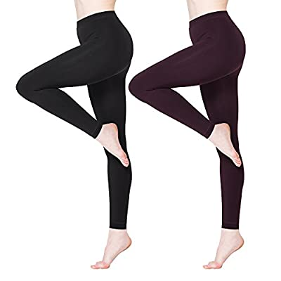 BONAS Women's Thermal Leggings Fleece Lined Casual Seamless Athletic Tights