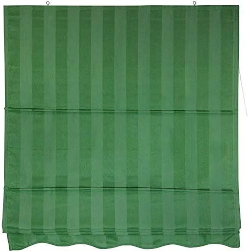 Oriental Furniture Striped Roman Shades – Green – 72 in. x 72 in. B