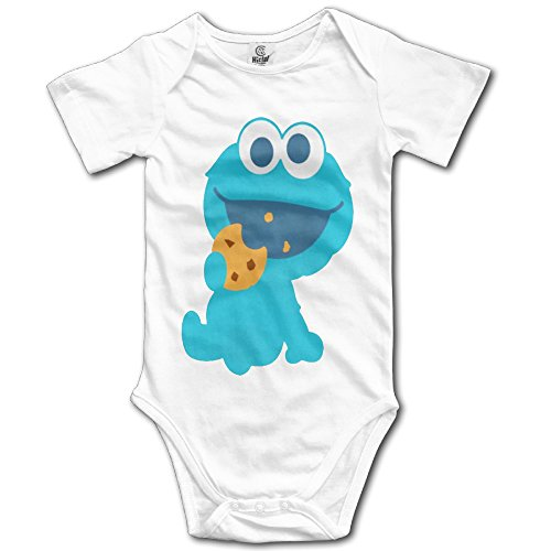 Cookie Monster Eating Cookie Infant Variety Bodysuits Bodysuit In 4 (Cookie Monster Pattern Game)