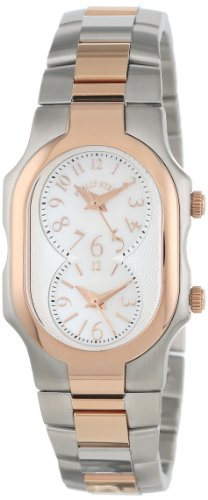 Philip Stein Women's 1TRG-FMOP-SSTRG Signature Two-Tone Rose Gold-Plated Stainless Steel Bracelet Watch