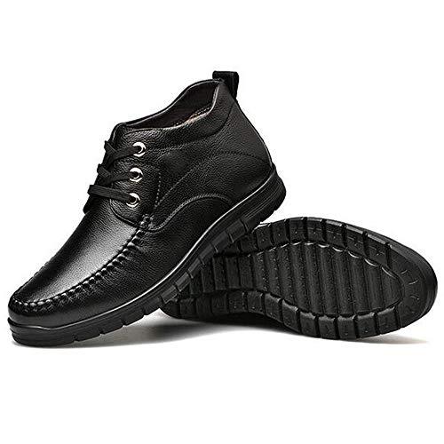 shoelaces Winter Terciopelo Algodón Antideslizantes 40 long Altas Botas Martín Plus De Cuero Zapatos Cálido Have Para Negocios Zapatillas Hombre Wang wU76F8qvw