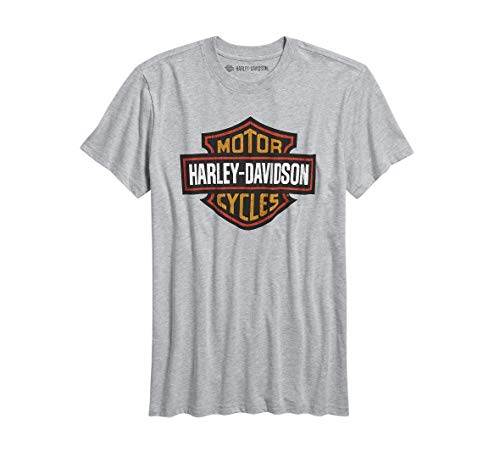 Harley-Davidson Official Men's Logo Slim Fit Tee, Grey (XXX-Large)