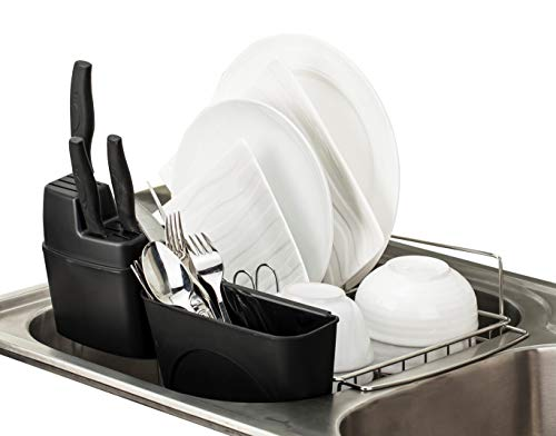 PremiumRacks In Sink Dish Rack - 304 Stainless Steel - Adjustable - - Rack Dish Dry And High