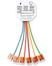 Lupus-Electronics 12128 Rolluikrelais V2 voor automatisch (handmatig, tijd of temperatuur gestuurd) van je schaduwen via de XT-Smarthome alarminstallaties (niet XT1), 230 V,