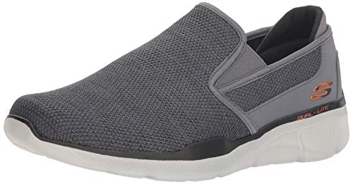 Skechers Men's Equalizer 3.0 Sumnin Loafer Charcoal/Orange 10 M US (On Skechers Shoes Slip)