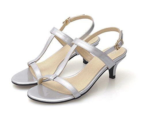 Heeled Silver Honeystore Women's Sandals strap T Xqwtw40