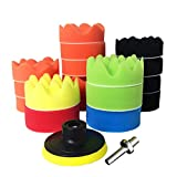 Polishing Sponge Pads Buff Pad - 19 Pcs 3'' Buffing Pads Kit for Car Polisher Waxing Clean ( M10 Drill Adapter)