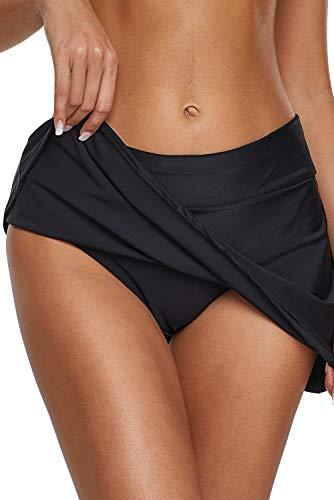 Dolamen Badshorts voor dames, bikinibroek, rok, short, badpak, buikweg, badjurk met geïntegreerde broek, meerkleurig…