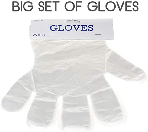 Clear Plastic Gloves Cooking Cleaning