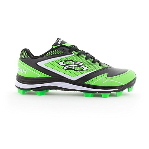 Boombah Womens A-Game Molded Cleats - 15 Color Options - Multiple Sizes Black/Lime Green Hafwpe