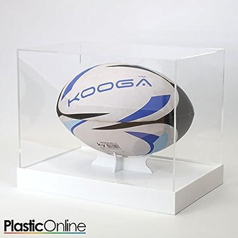 Balón de Rugby vitrina horizontal – Base de color blanco: Amazon ...