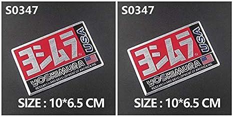 NOBRAND 2Pcs Aluminum 3D Heat-Resistant Motorcycle Exhaust Pipe Decals Sticker For Scorpio Yoshimura Akrapovic Arrow Mivv Two Brother Sc 2Pcs S0163