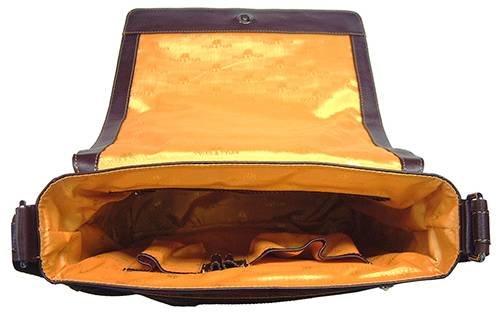 Dark Brown Italienisch ausblenden Leder Labrador Messenger Bag von Tyler and Tyler