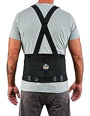 """Ergodyne ProFlex 1400UN Back Support Belt, 8.75"""" Spandex, Universal Size, Fits Waist 28-26 inches"""