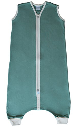 CastleWare Baby Organic Rib Knit Sleeper Bag For Walkers- Sleeveless-16 Mos-3T (3T, Moss Green) by CastleWare Baby