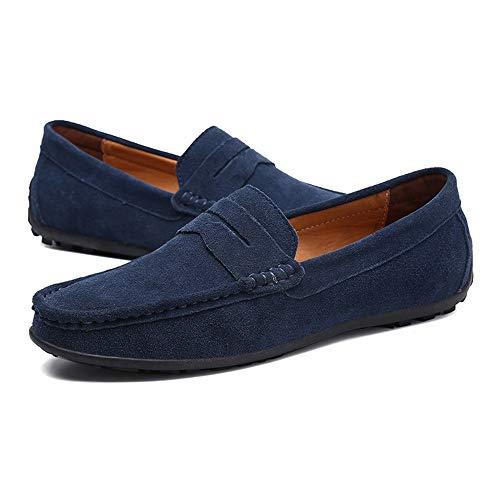 Ocasionales Zapatos color Para Son Blue Los Cómodos Impulsión La Eu Tamaño De Faint Hombre Y 44 Hombres Respirables Del Casuales Mocasines Barco r4Iq4p