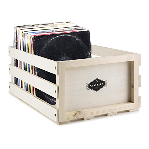 Nostalgie by auna Record Box WD Vinyl Box LP Box Multiplex Wood