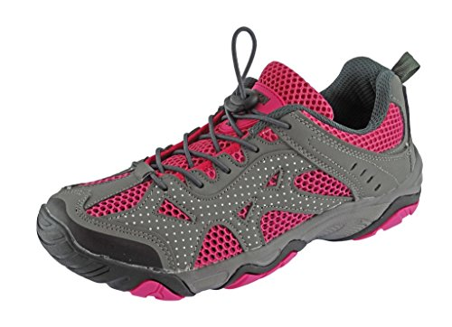 Rockin Footwear Womens Amphibious Athletic Hiking Swimming Water Shoe Aqua Sneaker, Pink, 10 B(M) US