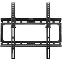 Suptek Tilt TV Wall Mount Bracket for 26-55 TVs including LED, LCD and Plasma Flat Screens up to VESA 400 x 400 and 100lbs and Magnetic Bubble Level MT4202
