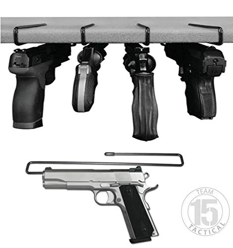 Handgun Pistol Hanger for Gun Safe Shelves / Shelving, 4 pack - fits .22 and up, 10.4 inches length